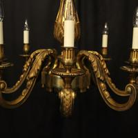 French Gilded Bronze 8 Light Antique Chandelier (3 of 10)