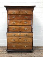 Early 19th Century Oak Secretaire Tallboy Chest on Chest (2 of 17)