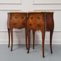 Beautiful Bombe shaped Bedside Cabinets c1930 (5 of 9)