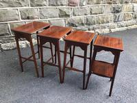 Edwardian  Inlaid Mahogany Nest 4 Tables (6 of 12)