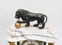 Antique Mantle Clock Set Garniture French Empire Urns (6 of 27)