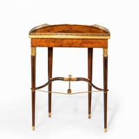 French demi-lune rosewood bow and arrow table by Georges-François Alix (3 of 11)