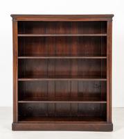 Simple Victorian Mahogany Open Bookcase (2 of 5)