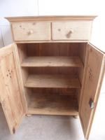Quality Victorian Antique Pine Kitchen Storage Cupboard to wax / paint (11 of 12)