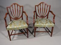 Exceptional Pair of George III Period Hepplewhite Elbow Chairs
