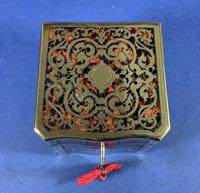 Exquisite 19th Century French Boulle Tea Caddy (3 of 8)