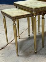 Nest 3 Onyx & Brass Tables (4 of 16)