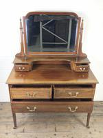 Edwardian Inlaid Mahogany Dressing Table (3 of 9)
