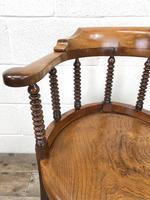 Antique Captain Style Elm Armchair (4 of 12)