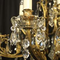French Gilded Bronze 16 Light Antique Chandelier (6 of 10)