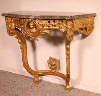 Giltwood Console From The 18th Century - Transition Period (louis XV-louis XVI) -france (3 of 13)