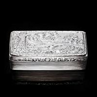 Georgian Solid Silver Snuff Box with Pheasant Scene - Thomas Shaw 1834 (8 of 28)
