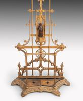 Complex Mid 19th Century Cast Iron Hall / Stick Stand (3 of 8)