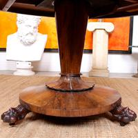William IV Rosewood Breakfast Table Tilt Top Dining Console (3 of 11)