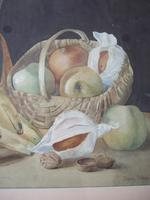 Dorothy Cottam Watercolour Still-life with Art Nouveau Jug (5 of 5)