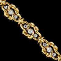 Antique French Diamond Bracelet 18ct Gold 2.20ct Of Diamond c.1900 (3 of 6)