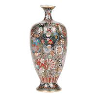 Oriental, Chinese / Japanese Exceptional Silver Metal Cloisonne Vase