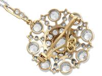 6.10ct Diamond & 9ct Yellow Gold Brooch / Pendant - Antique Victorian (10 of 15)