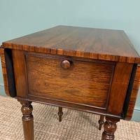 Rare Regency Rosewood Small Antique Pembroke Table (3 of 7)