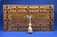 Victorian Walnut Tunbridge Ware Inlaid Jewellery Box (3 of 11)