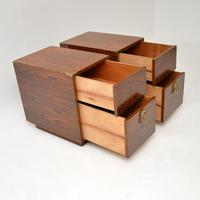 Pair of Military Campaign Style Rosewood Side Chests (10 of 10)
