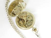 Antique Silver Waltham Pocket Watch & Chain (4 of 5)