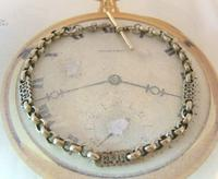 Antique Pocket Watch Chain 1890s Victorian Large Silver Nickel Fancy Link Albert (3 of 12)