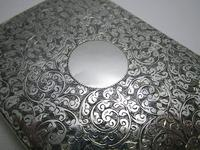 Quality Victorian 1894 Solid Sterling Silver & Leather Aide Memoire Card Note Stamp Case Purse Wallet. English Hallmarked (10 of 12)