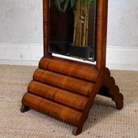Art Deco Cheval Mirror Walnut (5 of 14)