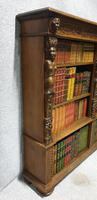 Outstanding Carved Oak Open Library Bookcase (15 of 16)