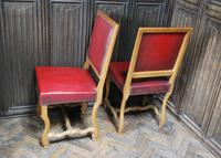 Set of 8 French Leather Dining Chairs (5 of 7)