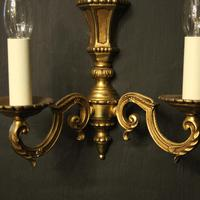 French Pair of Gilded Antique Wall Lights (6 of 10)
