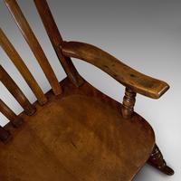 Antique Farmhouse Rocking Chair, English, Elm, Beech, Seat, Victorian c.1900 (10 of 12)