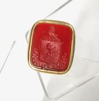 Regency Period 14 Carat Gold Hardstone Intaglio Fob Seal c.1820
