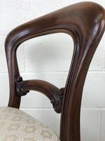 Single Victorian Mahogany Upholstered Chair (8 of 11)