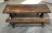 French Farmhouse Dining Table & Benches Set (32 of 33)