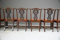 Set of 6 20th Century Mahogany Chippendale Style Dining Chair (9 of 13)
