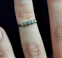 Antique Diamond Half Hoop Ring, Five Stone, 18ct Gold (11 of 13)