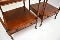 Pair of Antique Georgian Style Yew Wood Side Tables (5 of 14)