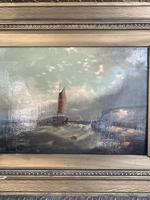 Antique Victorian marine seascape oil painting (1 of 2) (4 of 10)