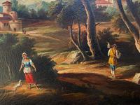 Substantial! Original Italian Landscape Oil by Follower of 17th Century Gaspard Dughet (10 of 15)