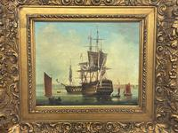 Seascape Oil Painting First Rate Man O War Ships Portsmouth Harbour Signed Brian Coole (6 of 39)