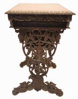Antique Burmese Work Box - Desk Writing Table 1890 Hardwood (10 of 13)