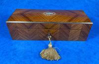 Victorian  French Tulipwood Glove Box