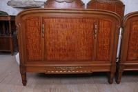 Handsome Pair of Parquetry Large Single Beds (2 of 10)