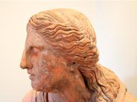 Huge 20th Century Terracotta Head of Niobe Classical Bust (5 of 6)