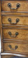 Small Burr Walnut Serpentine Chest of Drawers (3 of 10)