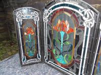 Arts & Crafts Leaded Glass Fire Screen (8 of 14)