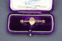 Victorian Gold Love Heart Brooch (2 of 2)