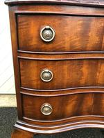 Antique Mahogany 3 Draw Bedside Chest (5 of 8)